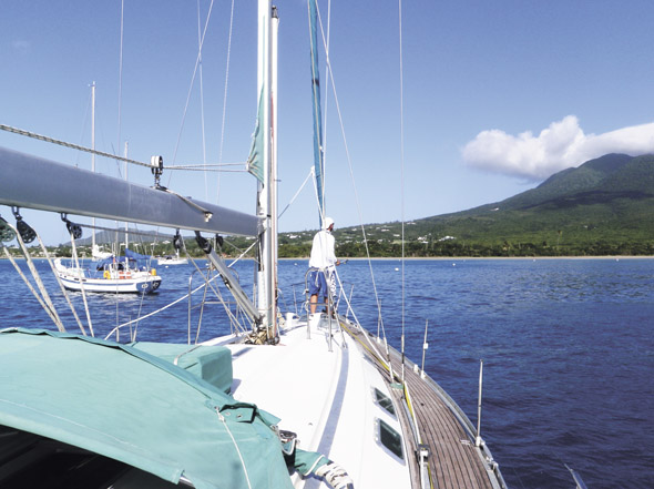 cm17-Picking-up-a-Mooring-in-Nevis